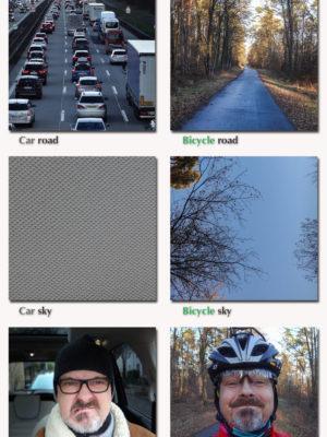 Vergleich Auto Und Fahrrad
