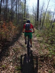 Auf dem Trail berghoch