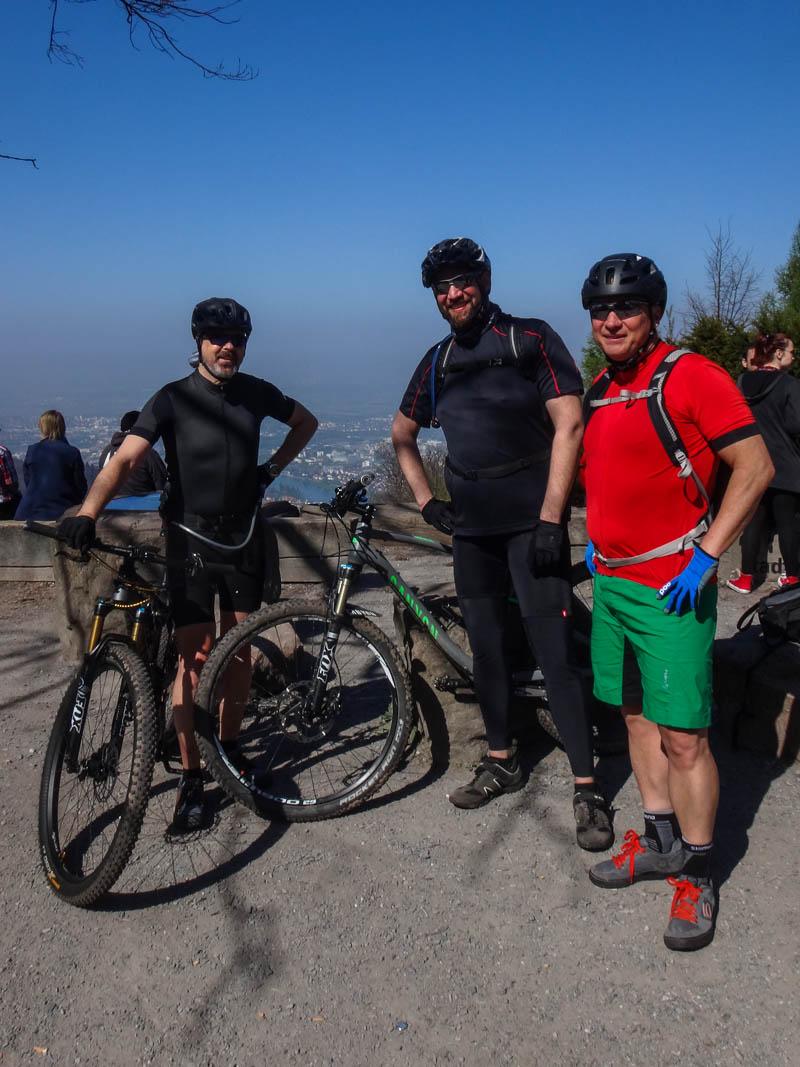 Das MTB-Trio am Königsstuhl